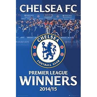 Chelsea FC - Premier League Winners 2014-2015 Poster Poster Print