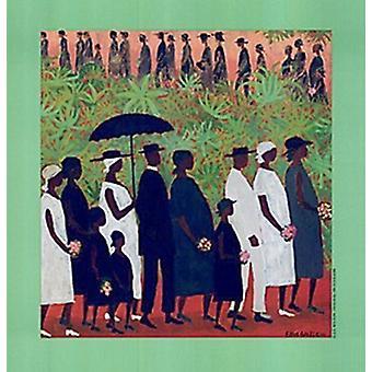 Beerdigung Prozession Poster Print von Ellis Wilson (18 x 19)