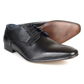 Silver Street London Brook Mens Black Leather Formal Shoes