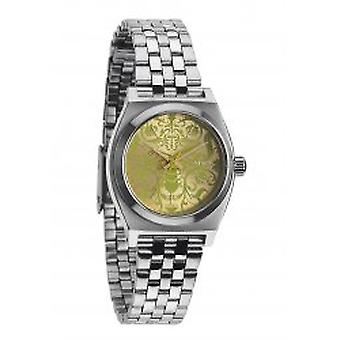 Nixon The Small Time Teller Silver / Neon Yellow / Beetle (A3991898)