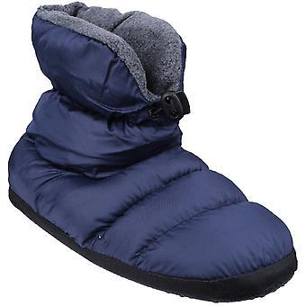 Cotswold jongens & meisjes Faux Fur kraag gewatteerde Camping slofje Slippers