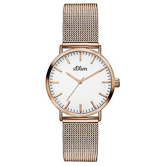 s.Oliver women's watch wristwatch stainless steel SO-3272-MQ