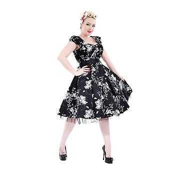 H & R Floral Print lange vierkante hals jurk