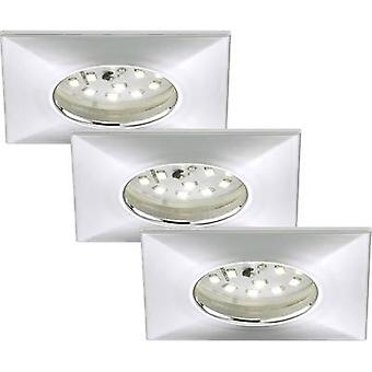Briloner 7205-038 LED badkamer inbouw licht 3-delige set 15 W warm wit chroom