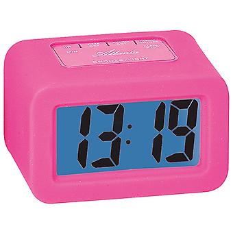 Atlanta 1971/1 alarm quartz digital pink digital alarm clock with snooze light