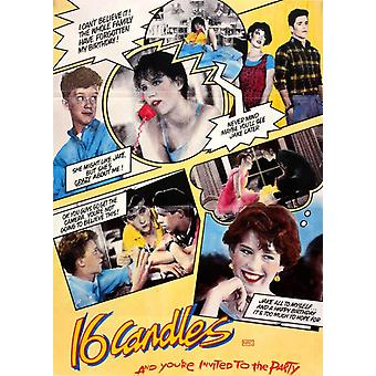 Sixteen Candles Collage Poster Poster Print