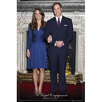 Prinssi William ja Kate juliste A Royal sitoutumista 91,5 x 61 cm