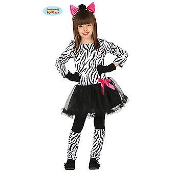Guirca Süßes Zebra Kostüm Kleid für Mädchen Karneval Tierkostüm