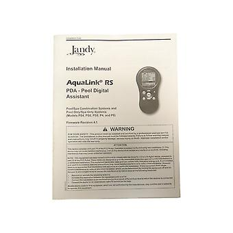 Jandy Aqualink RS PDA Pool Digital Assistant Installation Manual