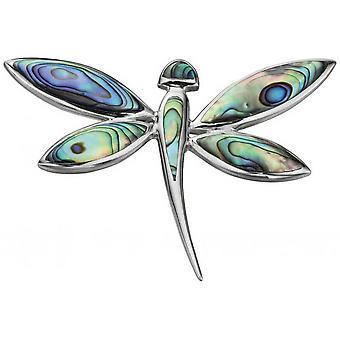 Begin Paua Shell Dragonfly hanger - Multi kleur/zilver