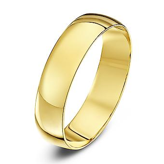 Star Wedding Rings 18ct Yellow Gold Light D 5mm Wedding Ring