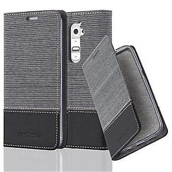 Cadorabo Hülle für LG G2 Case Cover - Handyhülle mit Magnetverschluss, Standfunktion und Kartenfach – Case Cover Schutzhülle Etui Tasche Book Klapp Style