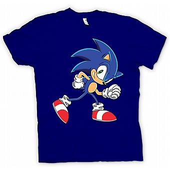 Дети футболку - запустить команду Соник - звуковых Hegehog