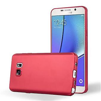 Cadorabo Hülle für Samsung Galaxy NOTE 5 hülle case cover - Handyhülle aus flexiblem TPU Silikon – Silikonhülle Schutzhülle Ultra Slim Soft Back Cover Case Bumper