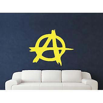 Symbole anarchie autocollant de mur d'art - Soufre