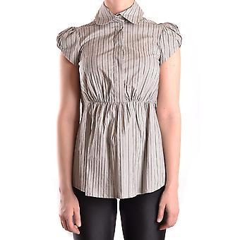 Elisabetta Franchi Ezbc050009 Women's Brown Cotton Shirt