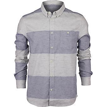 Quiksilver Herren Minoo Tal Streifen LS Shirt - mittelalterliche blau Marmor Neppy