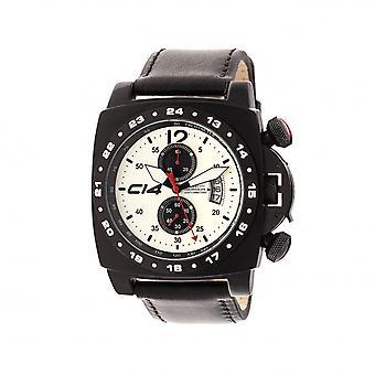 A 1 .3 -Carbon 14- Quartz Chronograph - Black Leather