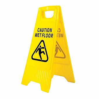 sUw - Wet Floor Warning Sign Yellow Regular