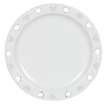 Aroma Cut Out Heart Candle Plate, Green