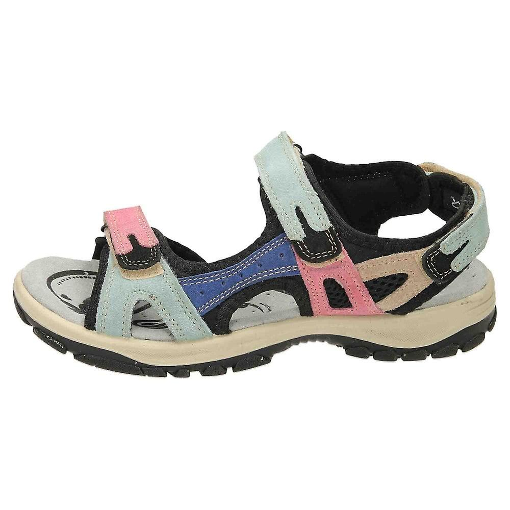 Roselli Mandy -07 A Multi Open Toe Casual Leather Sandals Adjustable