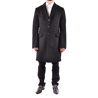 John Galliano Ezbc189002 Men's Black Wool Coat
