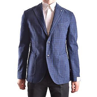 L.b.m. Ezbc215004 Men's Blue Cotton Blazer