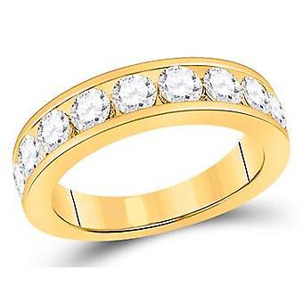 Diamond Wedding Band Anniversary Ring 1.74 Carat (ctw G-H, SI3-I1) in 14K Yellow Gold