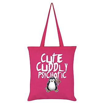 Psycho Penguin Cute Cuddly Psychotic Tote Bag