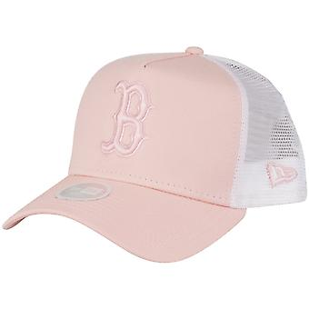 New Era Damen Trucker Cap - Boston Red Sox peach rosa