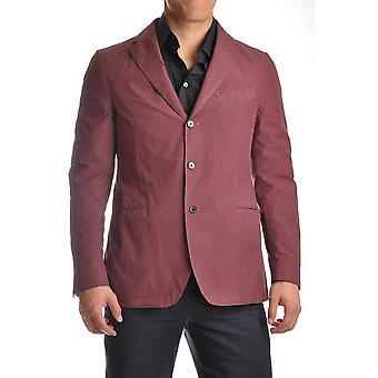 Piombo Ezbc313001 Men's Burgundy Cotton Blazer