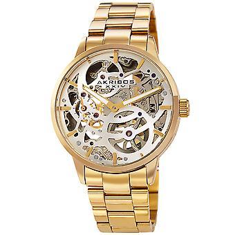 Akribos XXIV AKS191078YG orologio da polso meccanico da uomo in acciaio