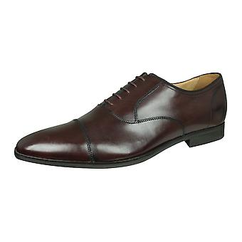 Geox U New Life E Mens Leather Lace Up Shoes / Brogues - Bourgogne