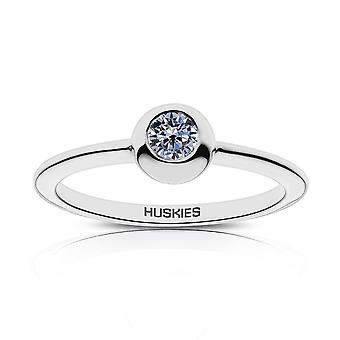 University of Connecticut Sapphire Ring In Sterling Silver Design by BIXLER