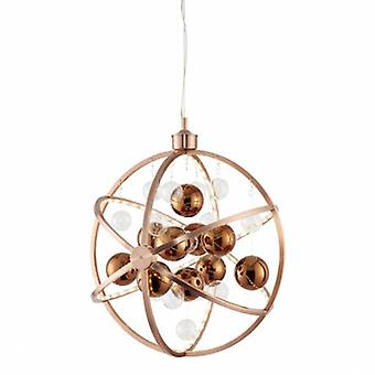 Spherical Ceiling Pendant Light With Copper Balls