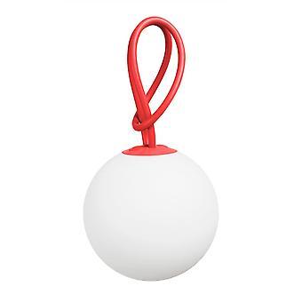 Fatboy bolleke opknoping IP55 LED USB lantaarn in het rood