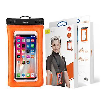 "Waterproof cover with air cushion/Touch Screen Universal up to 6 ""Orange"