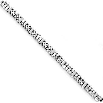925 Sterling Silber CZ Zirkonia simuliert Diamant magnetische Verschluss Armband Schmuck Geschenke für Frauen