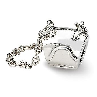 925 Sterling Silver Antiquário Acabamento Reflections SimStars Handbag Bead Charm Pendant Necklace Jewely Gifts for Women