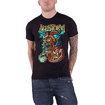 Alestorm T Shirt Get Drunk Or Die Band Logo new Official Mens Black
