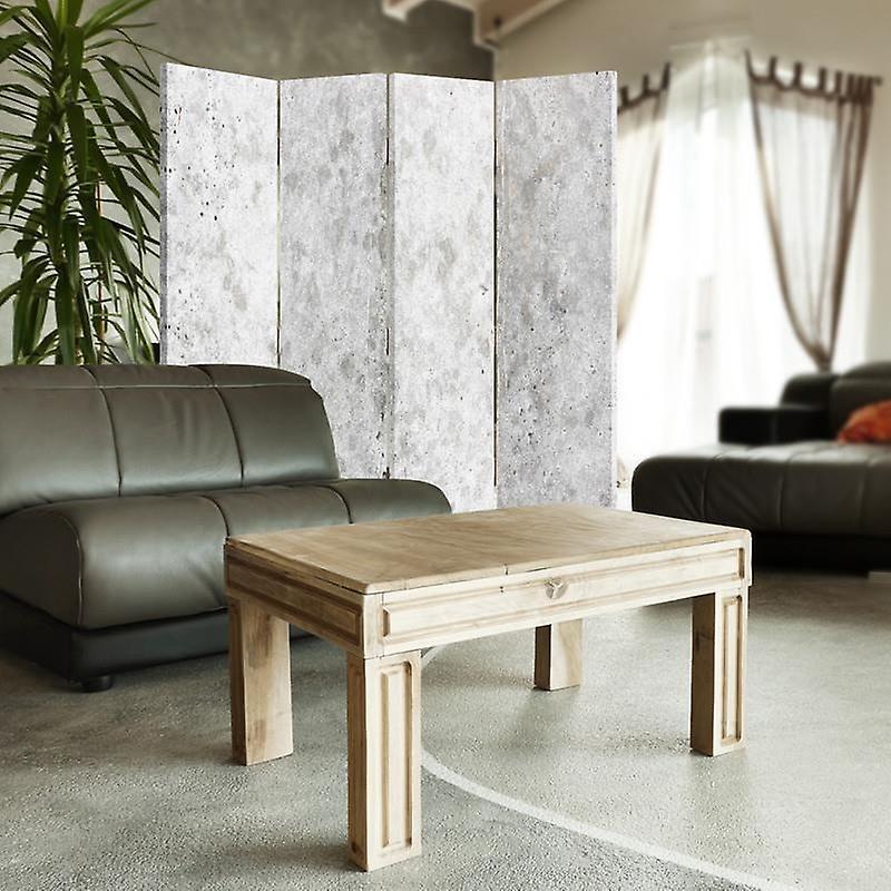 Room Divider, 4 panneaux, Double-Sided, Rotatable 360 ?? Toile, Mur de béton 2
