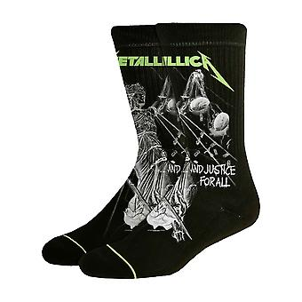 Metallica Socks And Justice For All Album Band Logo new Official Mens Black