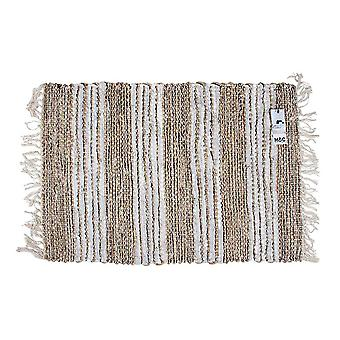 Cotton Leather Hand Knit Rug 60 X 90 Cm