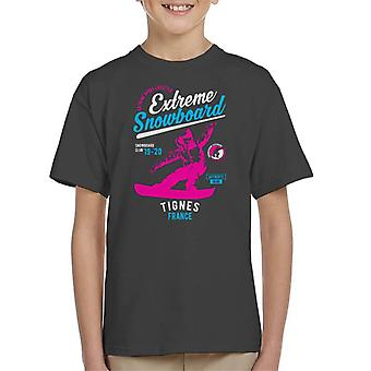 Extreme Snowboard '19 '20 Tignes France Kid's T-Shirt