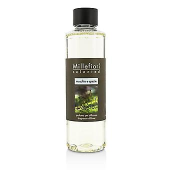 Millefiori Selected Fragrance Diffuser Refill - Muschio E Spezie - 250ml/8.45oz