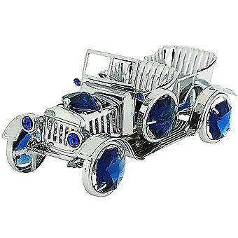Crystocraft Freestanding Silver Plated Vintage Car Ornament Made With Swarovski Crystals