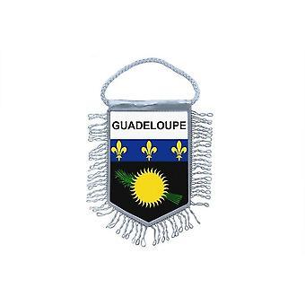 Vlag mini vlag land auto decoratie Guadeloupe Gwada