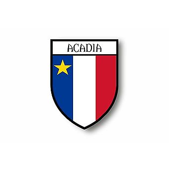 Sticker Sticker Car Moto Blason City Flag Acadian Acadian