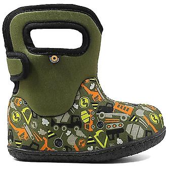 Baby Bogs Boys Construction Boots Green