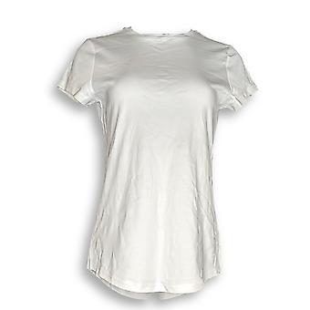 Isaac Mizrahi Live! Women's Top Essentials Pima Cotton White A288195